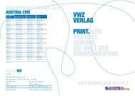 VWZ VERLAG PRINT.WEB. TV.EVENT. SERVICE. DIE WELT DER ...