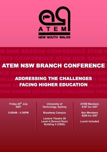 Conference Brochure - ATEM