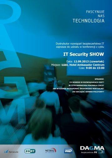 IT Security SHOW Nazwa szkolenia - Dagma