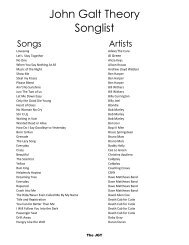 Song List - Entertainment Unlimited