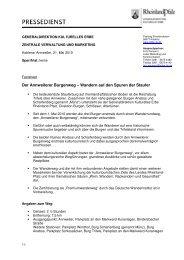 Factsheet: Der Annweilerer Burgenweg - Generaldirektion ...