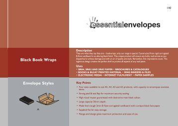 Black Book Wraps Envelope Styles