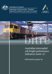 Australian intercapital rail freight performance indicators 2006–07