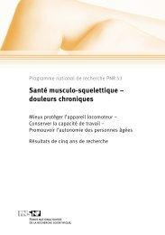 Santé musculo-squelettique - advocacy ag communication and ...