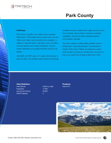 Park County 911 - TriTech Software Systems