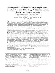 Radiographic Findings in Bisphosphonate ... - The Endoexperience