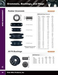 Grommets, Bushings, and Plugs - Polar Wire Products