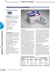 Reagenzien Isolierung von Nuklein säuren - Zefa-Laborservice