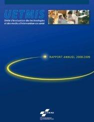 RAPPORT ANNUEL 2008-2009 - CHUQ