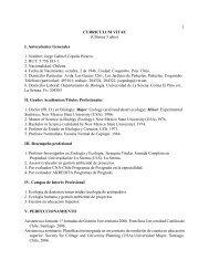currículum - Departamento de Biología