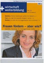 wirtschaft+weiterbildung 06 2012 - experts4events