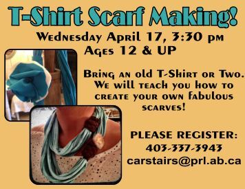 Wednesday April 17, 3:30 pm Ages 12 & UP