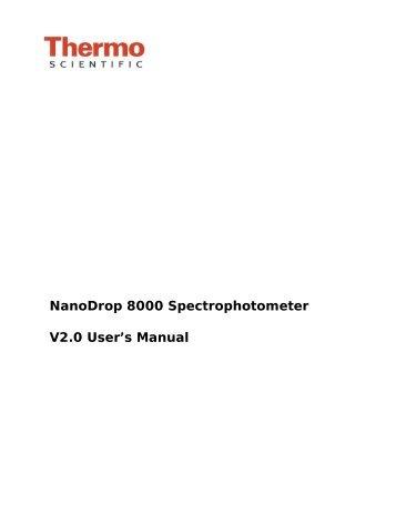 Thermo scientific nanodrop 2000 / 2000c | forums | questions.