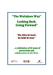 The Waitakere Way - Looking Back, Going Forward - Auckland Council
