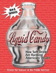 Liquid Candy - Center for Science in the Public Interest