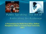 The Art of Public Speaking - Cronkitezine - Arizona State University