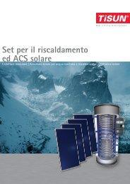 Set per il riscaldamento ed ACS solare - Tiemme Snc