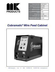 Cobramatic® Wire Feed Cabinet - MK Products