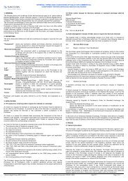 general terms and conditions of sale for commercial component ...
