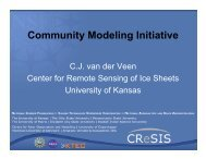Community Modeling Initiative - Modeling, Analysis, and Prediction ...