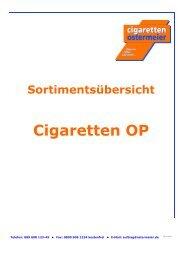WG 1 Cigaretten - Cigaretten Ostermeier