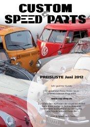 PREISLISTE Juni 2012 - Custom Speed Parts