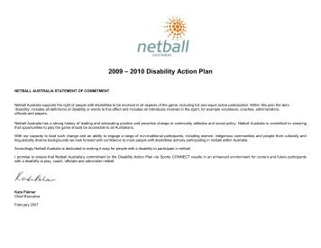 2009 – 2010 Disability Action Plan - Australian Human Rights ...