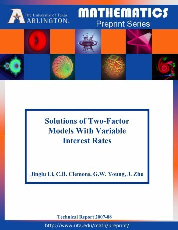 Solutions of Two-Factor Models With Variable Interest Rates