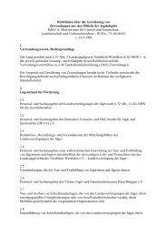 Richtlinien über die Gewährung von Zuwendungen aus den Mitteln ...