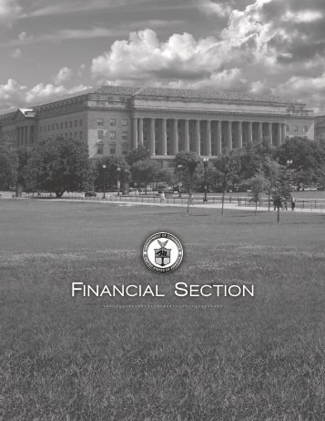 FINANCIAL SECTION - Department of Commerce