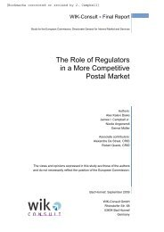 The Role of Regulators in a More Competitive Postal Market