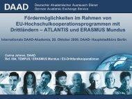 ATLANTIS und ERASMUS Mundus - Internationale DAAD ...