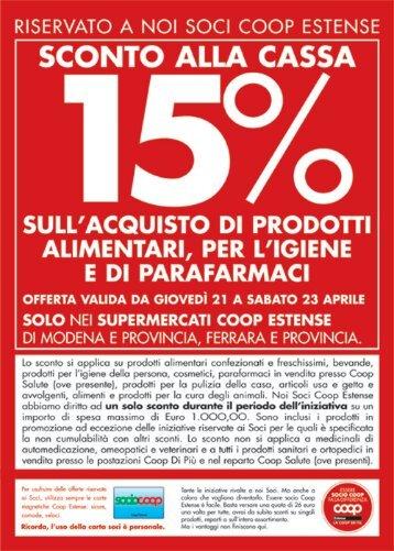 RISERVATO A NOI SOCI COOP ESTENSE - E-coop