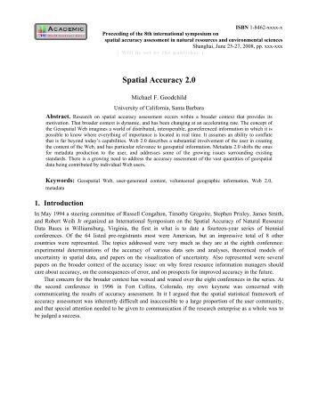 Spatial Accuracy 2.0 - University of California, Santa Barbara