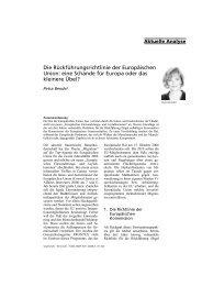 Die Rückführungsrichtlinie der Europäischen Union: eine Schande ...