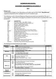 Stationery list Grade 10 2013.pdf - Glenwood High School