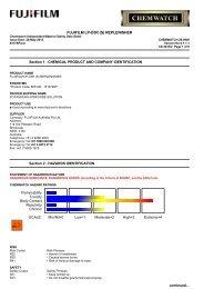 Chemwatch Australian MSDS 28-0949 - FUJIFILM Australia