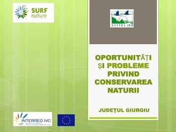 oportunităţi şi probleme privind conservarea naturii - SURF-nature