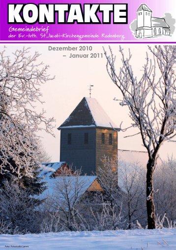 Dezember 2010 – Januar 2011 - St. Jacobi