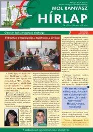 2013. május - Magyar Olaj- és Gázipari Bányász Szakszervezet