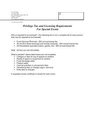 SPECIAL EVENTS REQUIREMENTS