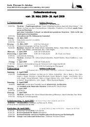 Gottesdienstordnung April 2009 - St. Jakobus Versbach