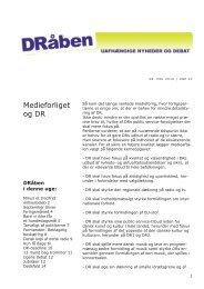 Medieforliget og DR - Seniorklubben for nuværende og tidligere ...
