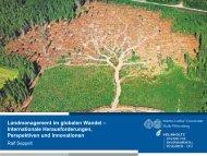 Landmanagement im globalen Wandel - Nachhaltiges ...