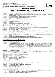 Gottesdienstordnung Gottesdienstordnung vom 16. November 2008 ...