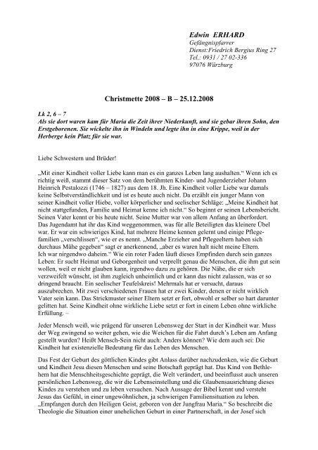 Christmette 2008 2008 - St. Jakobus Versbach