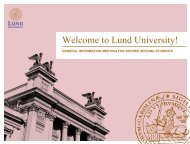 Degree Students, Bachelor's & Master's - Lund University