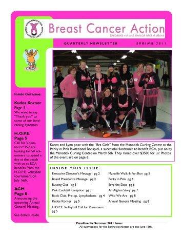 Spring 2011 Newsletter-working.pub - Breast Cancer Action Ottawa