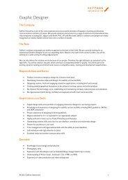 Download the full Graphic designer profile - Saffron Interactive