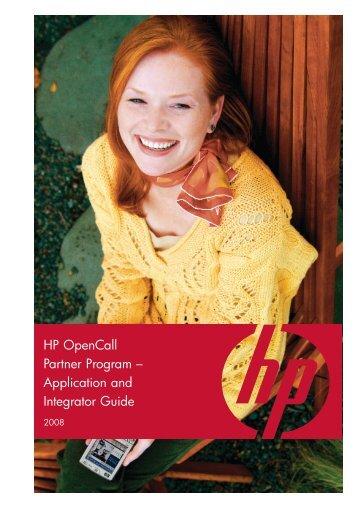 HP OpenCall Partner Program - Communications & Media Solutions